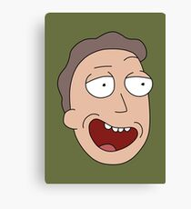 Rick and Morty – Jerry Fan Canvas Print
