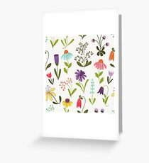 Fresh floral Greeting Card