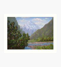 Hollyford Valley, New Zealand Art Print