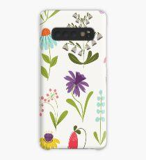 Frisches Blumen Hülle & Klebefolie für Samsung Galaxy