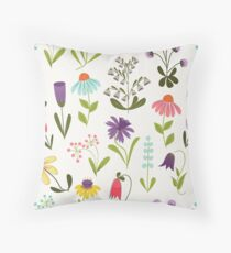 Fresh floral Throw Pillow