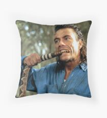 Jean Claude Van Damme Snake Bite Throw Pillow