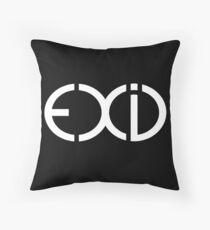 exid white logo Throw Pillow