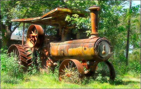 Steam Tractor by Betty  Reynolds - Smith