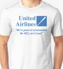 United Airlines Parody Unisex T-Shirt