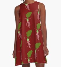 Earth Alien Watermelon Radish A-Line Dress