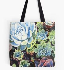 Succulent Field (watercolor) Tote Bag