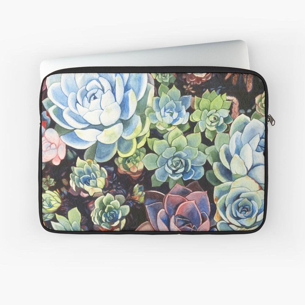 Succulent Field (watercolor) Laptop Sleeve Front