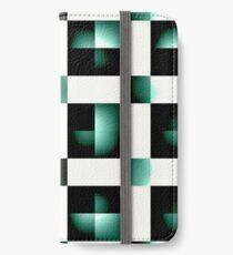 Dark green geometric print  iPhone Wallet/Case/Skin