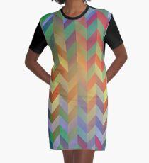 Chevron On Stilts Graphic T-Shirt Dress