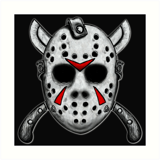 """To Print For Jason Mask Pumpkin Stencil: """"Friday The 13th Jason Mask"""" Art Prints By ShayneoftheDead"""