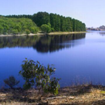 Myponga Reservoir panorama by paultho