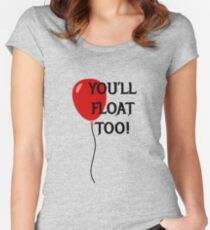 You'll Float Too! Women's Fitted Scoop T-Shirt