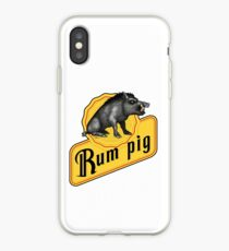 Rum Pig iPhone Case