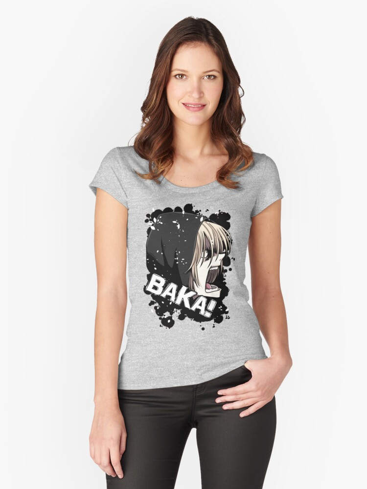 BAKA!!! Women's Fitted Scoop T-Shirt Front