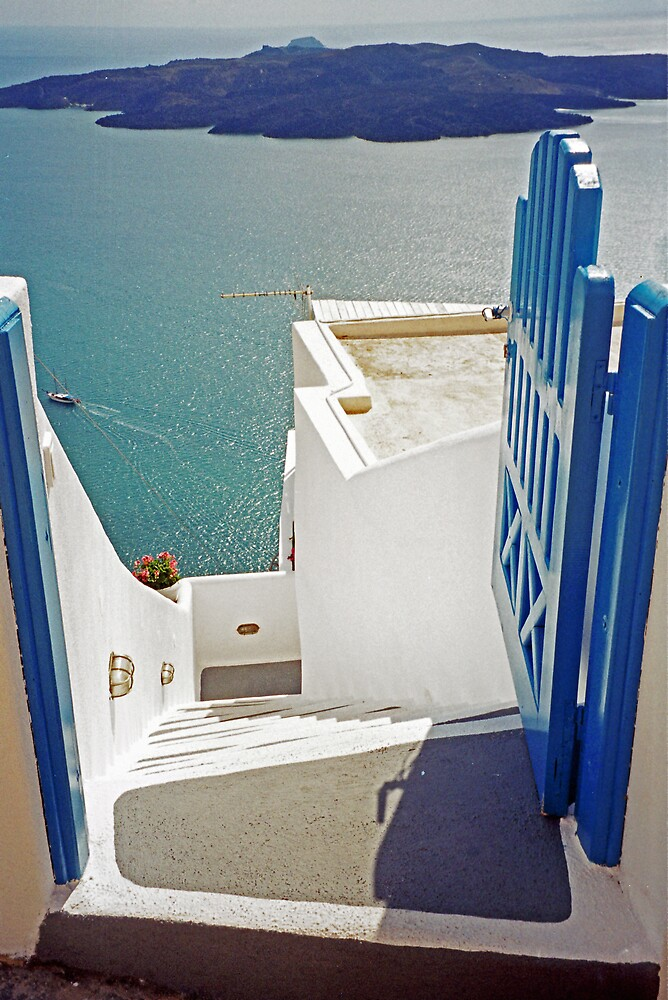 Gateway to the Caldera, Santorini by Leigh Penfold