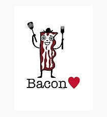 I love bacon Photographic Print