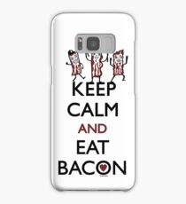 Keep Calm and Eat Bacon Samsung Galaxy Case/Skin
