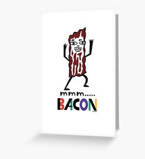 mmm Bacon Greeting Card