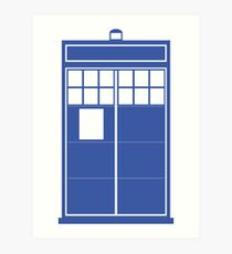 Minimal Shape Abstraction TARDIS Art Print