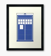 Minimal Shape Abstraction TARDIS Framed Print