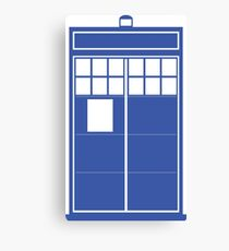 Minimal Shape Abstraction TARDIS Canvas Print