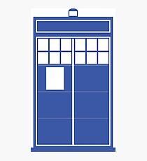 Minimal Shape Abstraction TARDIS Photographic Print