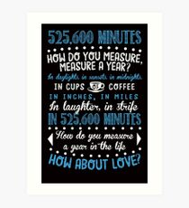 How Do You Measure A Year In Life? Art Print