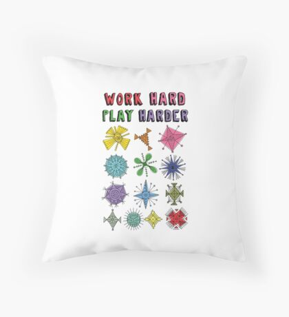 Work Hard Play Harder Throw Pillow