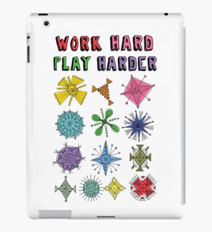 Work Hard Play Harder iPad Case/Skin