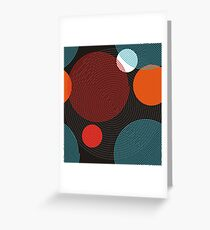 Geometry ornament from spiral lines form a circles  Greeting Card