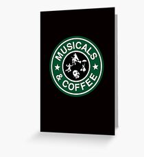 Musicals and Coffee Greeting Card