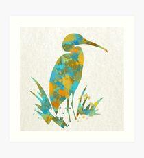 Watercolor Stork Art Print