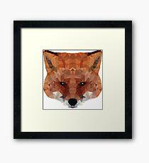 fox. polygonal graphics Framed Print