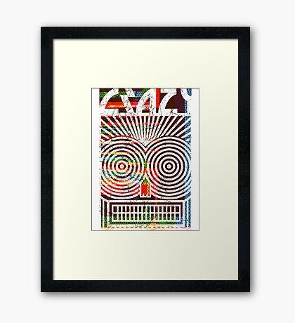 Crazy tx Framed Print