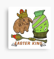 Easter Bunny King Canvas Print