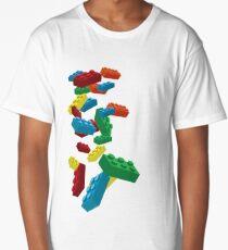 Falling Legos Long T-Shirt