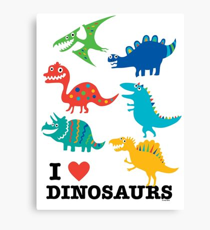 I love dinosaurs Canvas Print