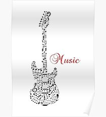 Music guitar note Poster