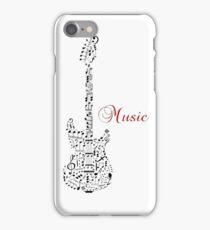 Music guitar note iPhone Case/Skin