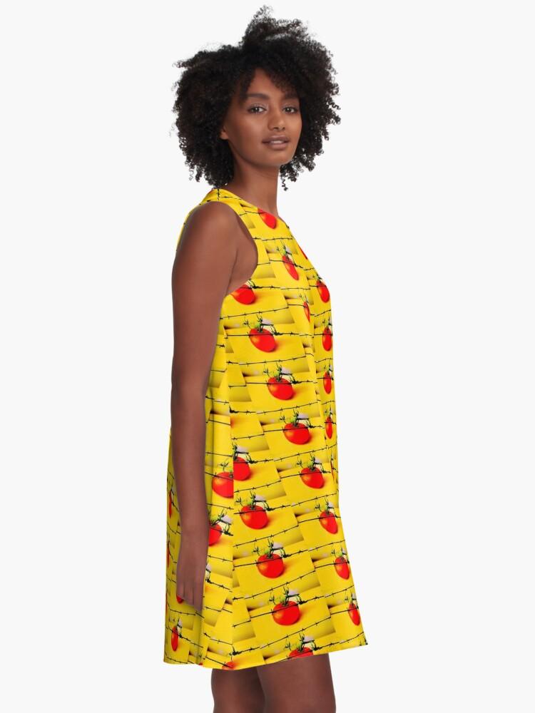 Alternative Ansicht von Tomate A-Linien Kleid