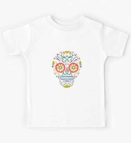 Sugar Skull SF multi 2 - on white Kids Clothes