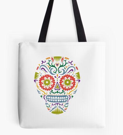 Sugar Skull SF multi 2 - on white Tote Bag