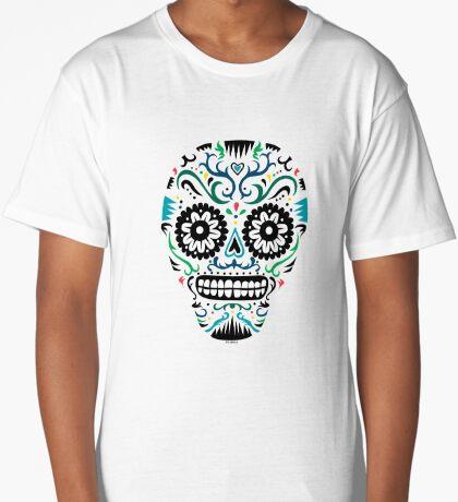 Sugar Skull SF multi om white Long T-Shirt