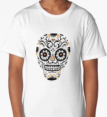 Sugar Skull SF -  on white Long T-Shirt
