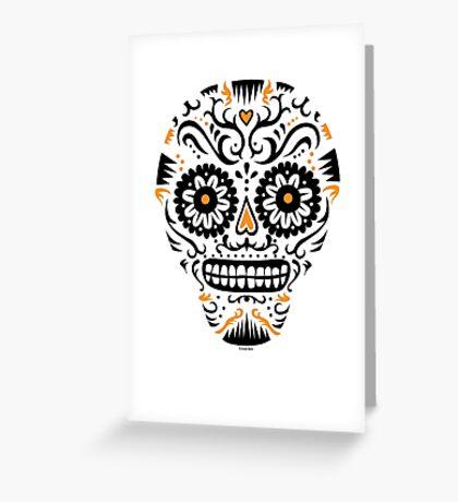 Sugar Skull SF -  on white Greeting Card