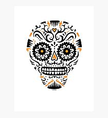 Sugar Skull SF -  on white Photographic Print