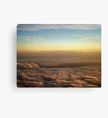 the sky was all aglow Canvas Print