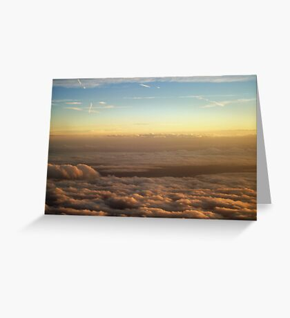 the sky was all aglow Greeting Card