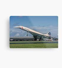 Concorde 102 G-BOAB landing at Farnborough Metal Print